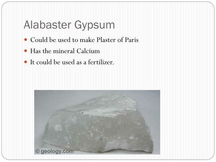 Alabaster Gypsum
