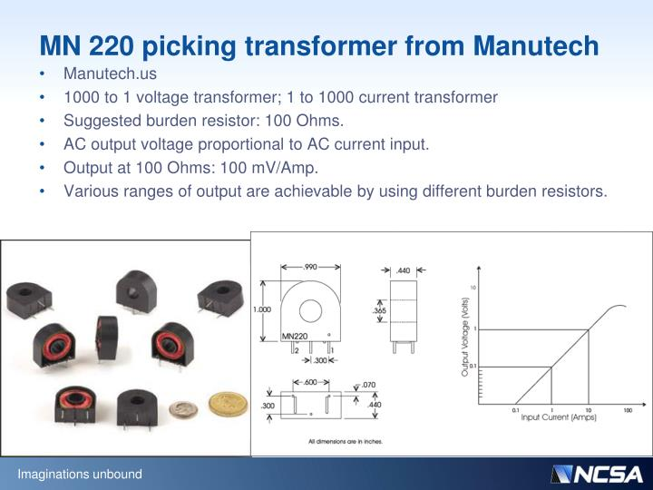 MN 220 picking transformer from