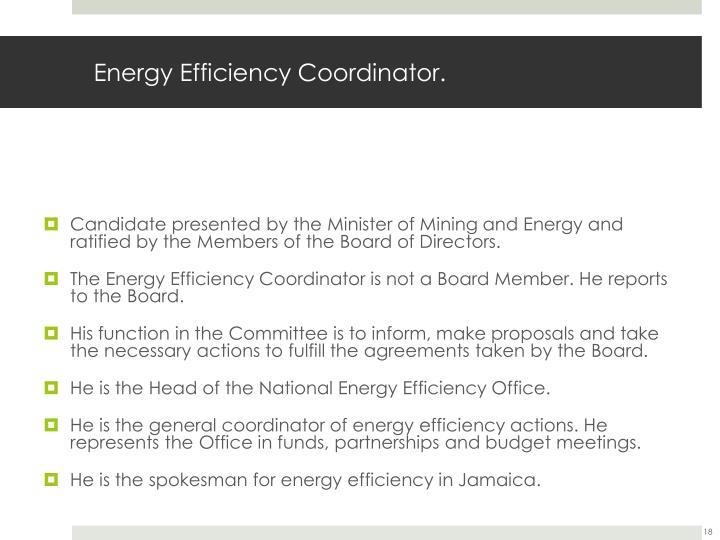 Energy Efficiency Coordinator.