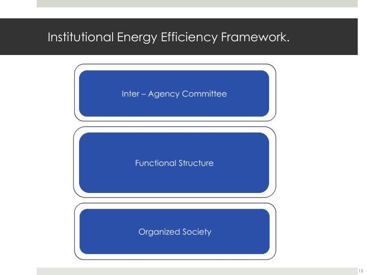 Institutional Energy Efficiency Framework.