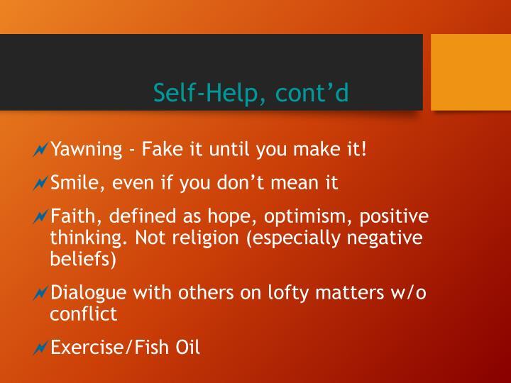 Self-Help, cont'd