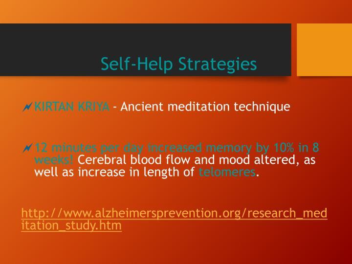Self-Help Strategies
