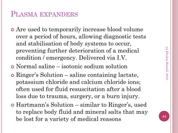 Plasma expanders