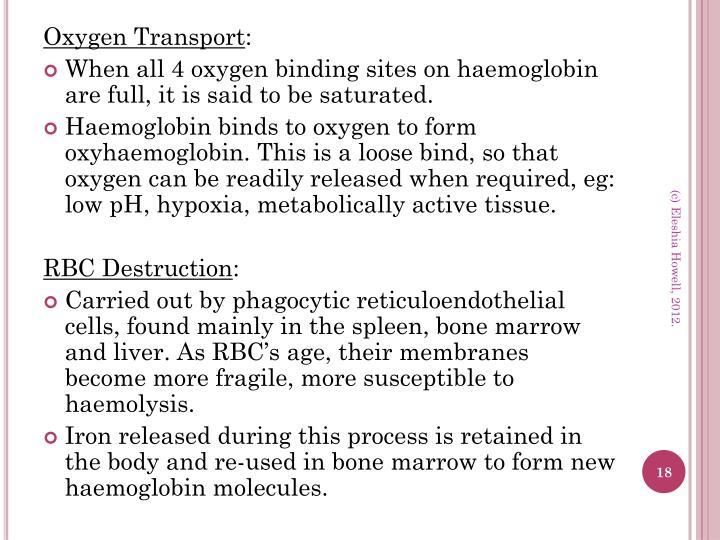 Oxygen Transport