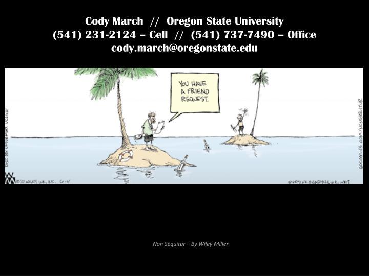 Cody March  //  Oregon State University