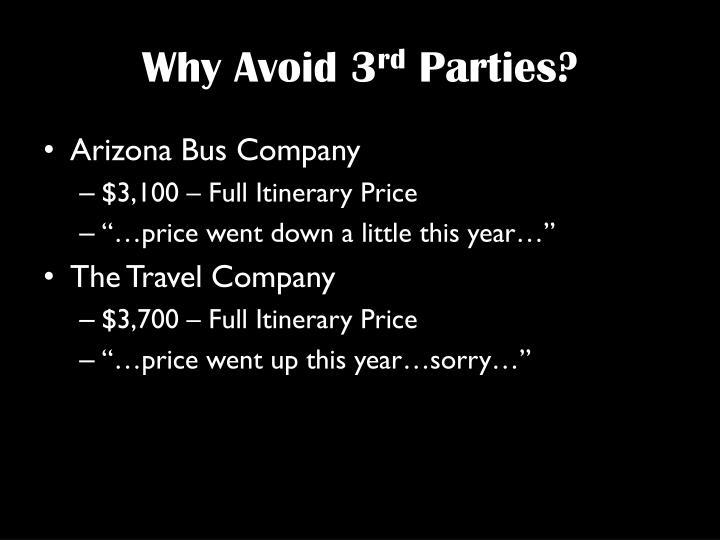 Why Avoid 3