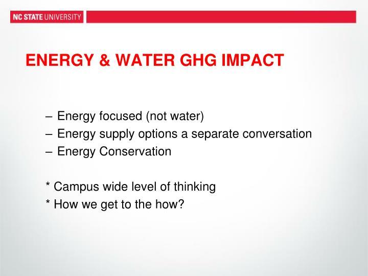 ENERGY & WATER