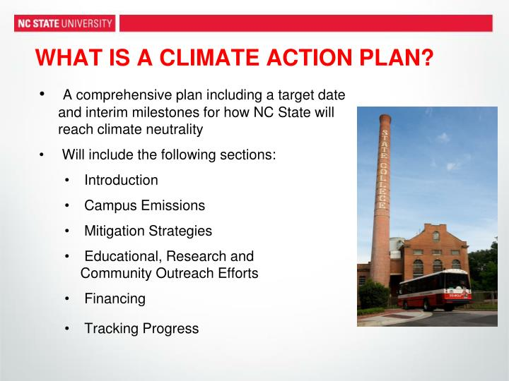 WHAT IS A CLIMATE ACTION PLAN?