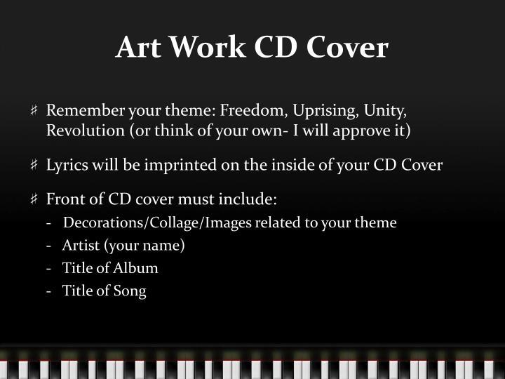 Art Work CD Cover