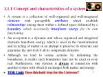 1 1 1 concept and characteristics of a system