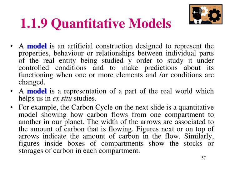 1.1.9 Quantitative Models