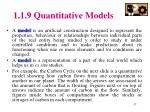 1 1 9 quantitative models