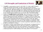 1 10 strengths and limitations of models