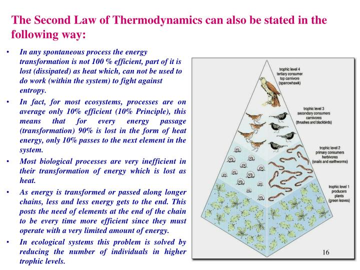 The Second Law of Thermodynamics can also be stated in the following way: