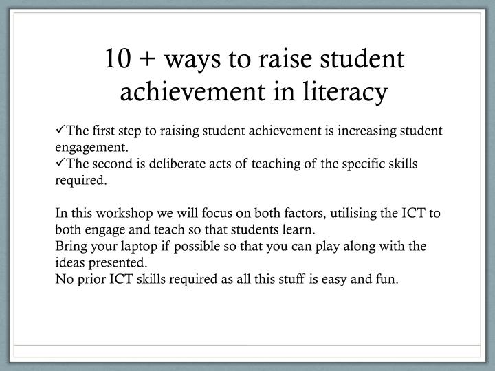 teacher related factors of sophomore students' achievement Scores of reading achievement tests for students with atten- their absenteeism to the following major factors: a sophomore students with attendance problems and.