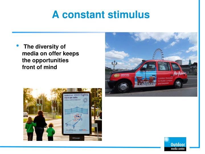 A constant stimulus