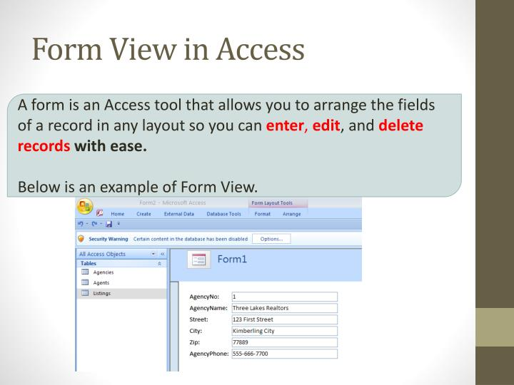Form View in Access