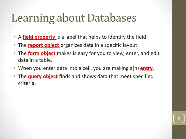 Learning about Databases