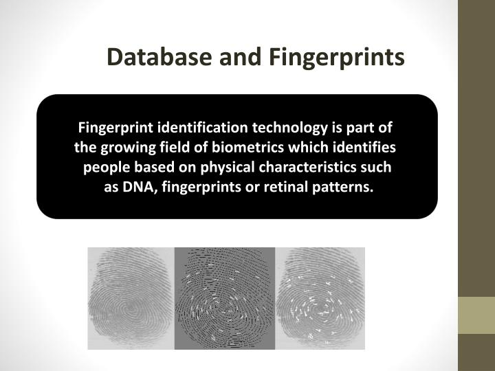 Database and Fingerprints