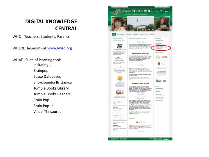 DIGITAL KNOWLEDGE CENTRAL