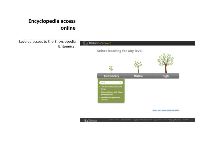 Encyclopedia access