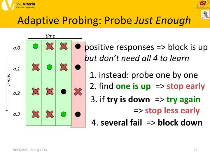 Adaptive Probing: Probe