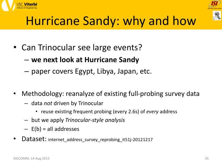 Hurricane Sandy: why and how