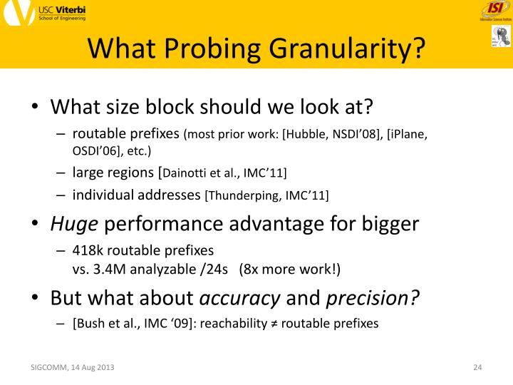 What Probing Granularity?
