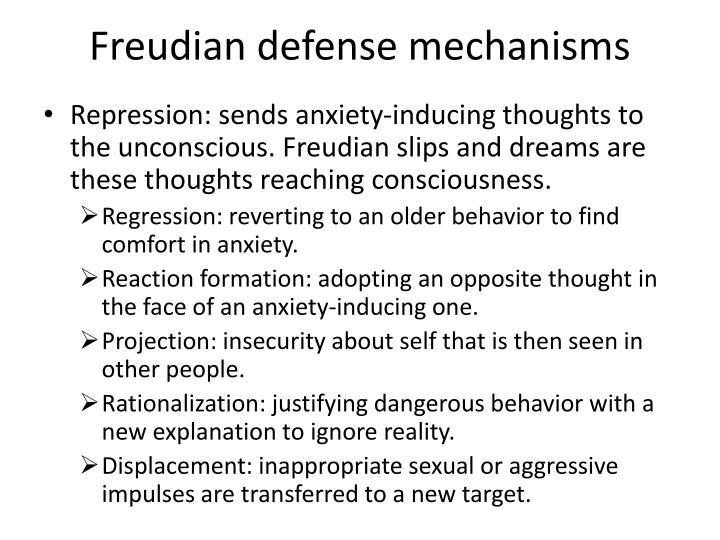 Freudian defense mechanisms