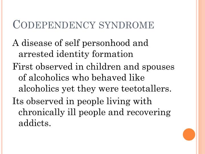 Codependency syndrome