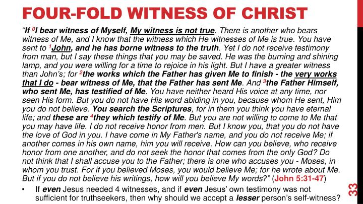 Four-Fold Witness of Christ