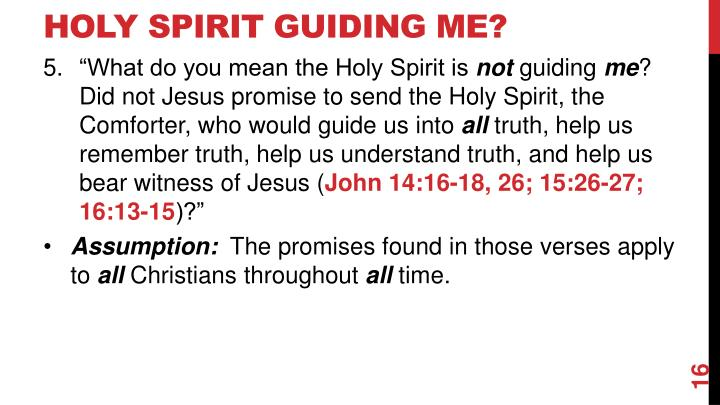 Holy Spirit Guiding Me?