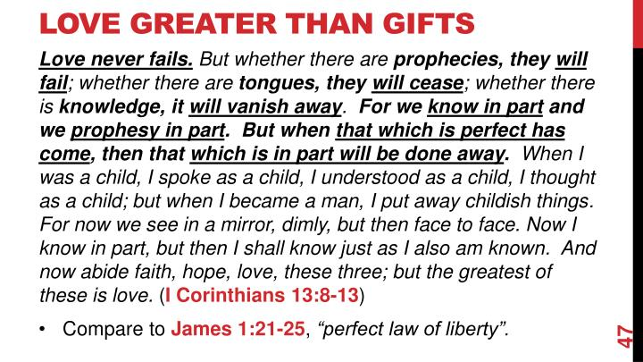 Love Greater Than Gifts