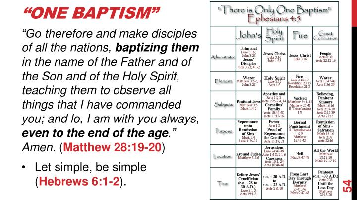 """One Baptism"""