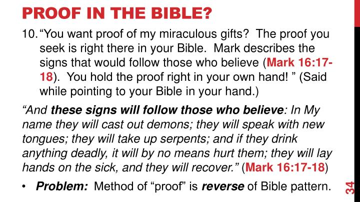 Proof In The Bible?