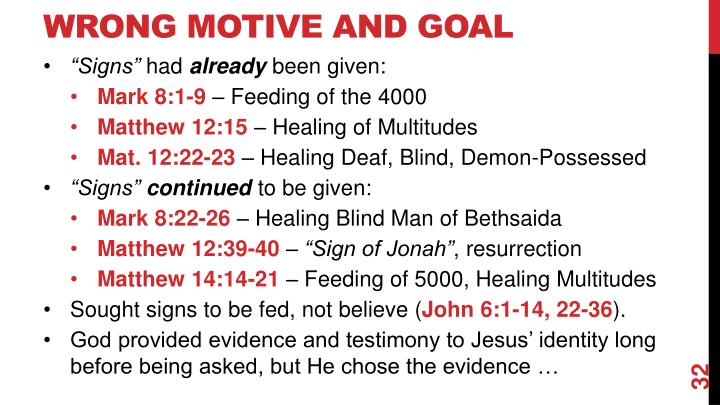 Wrong Motive and Goal