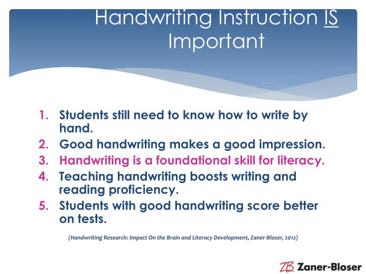 Handwriting Instruction