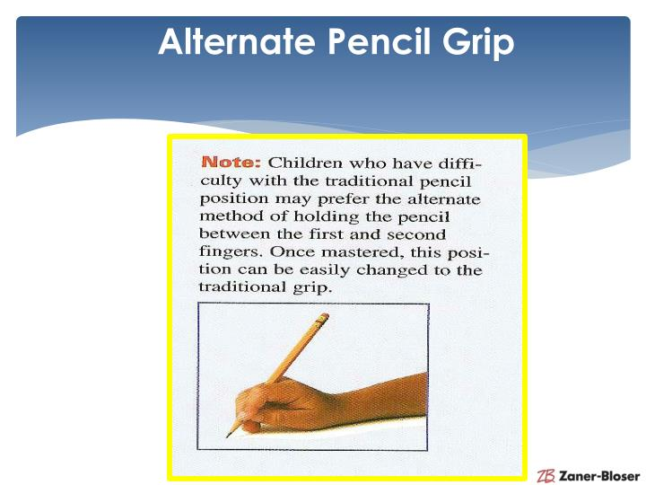 Alternate Pencil Grip