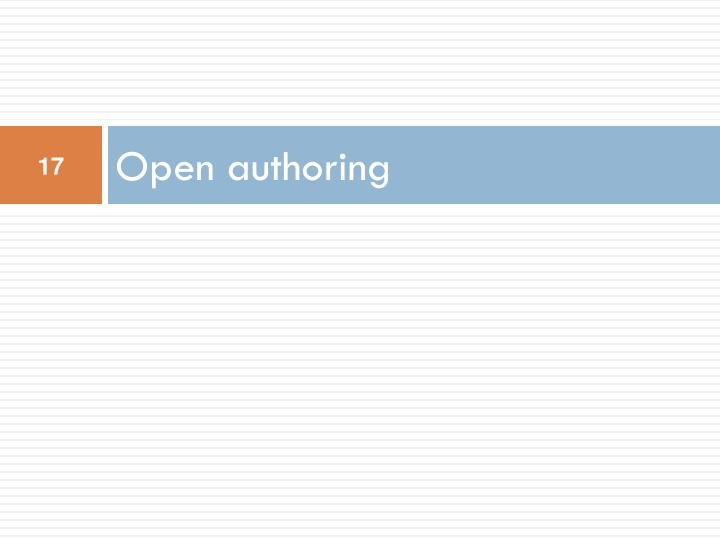 Open authoring