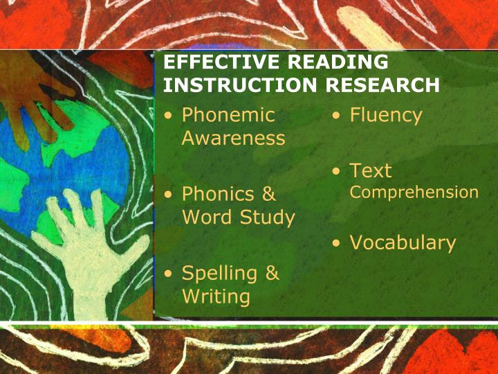EFFECTIVE READING INSTRUCTION RESEARCH
