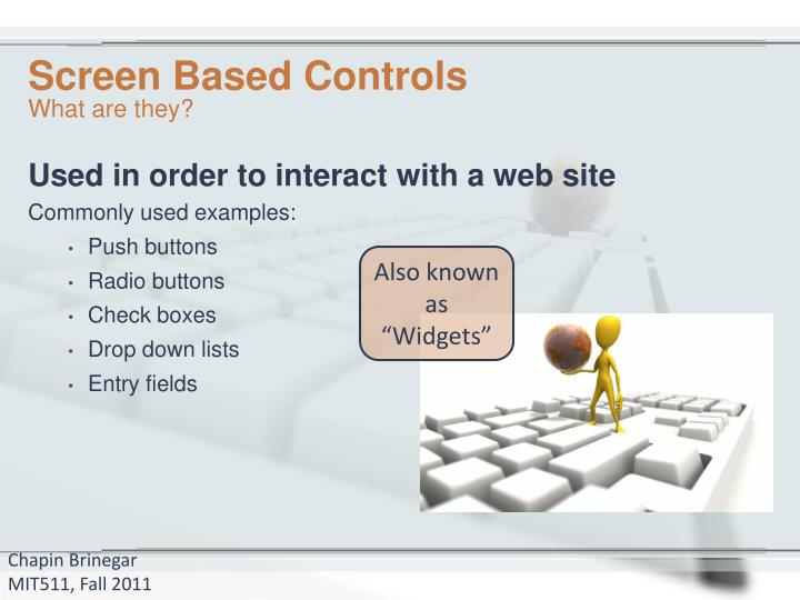 Screen based controls1