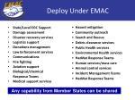 deploy under emac