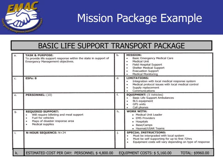 Mission Package Example