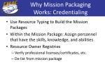 why mission packaging works credentialing