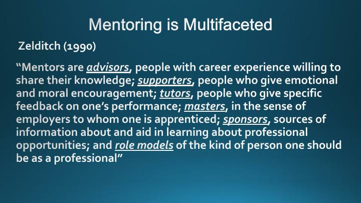 Mentoring is Multifaceted