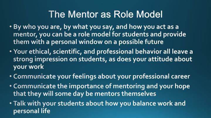 The Mentor as Role Model