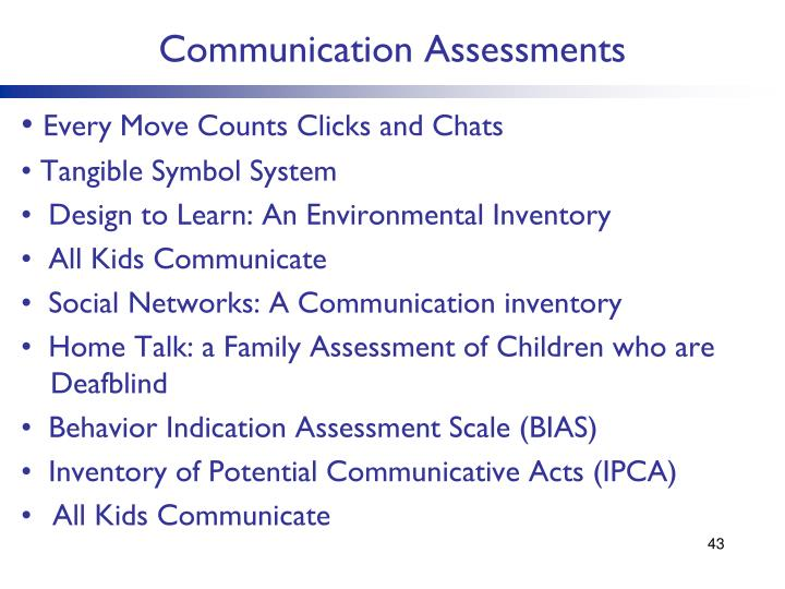 Communication Assessments