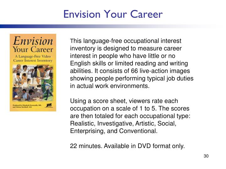 Envision Your Career
