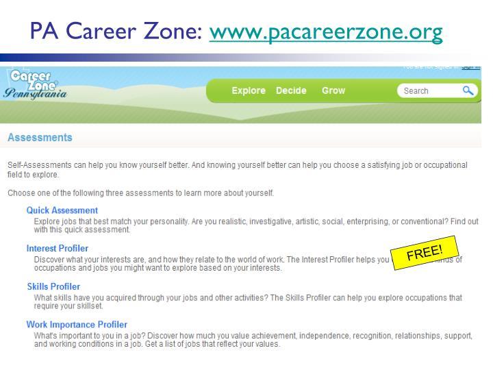 PA Career Zone: