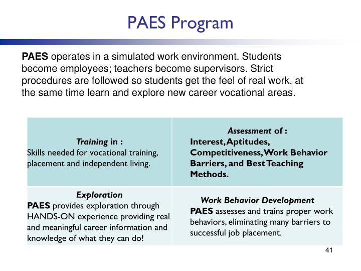 PAES Program
